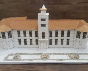 ماکت طراحی شده توسط دانشجویان گروه معماری مرکز برهان نیروی شمال
